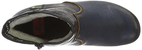 Rieker Y7273, Botines Para Mujer Azul (navy/muskat/schwarz/leaf/wine / 14)