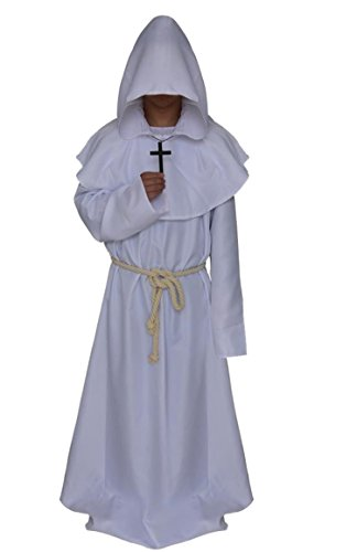 Halloween comic party Cosplay monk hooded robe cloak medieval Renaissance monk men's (Frodo Costume Amazon)