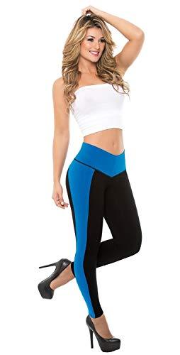 Made In Colombia Bella Mia Faja Leggings Bicolor Levanta Cola with Internal Powernet Body Shaper 1067 (3XL)