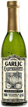 Garlic Expressions Vinaigrette Salad Dressing, Marinade | Non GMO, Vegan, Kosher, Allergen and Gluten Free Gar