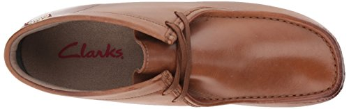 Clarks Mens Stinson Hi New Color Chukka Boot In Pelle Marrone Scuro