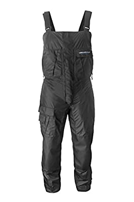 WindRider Pro Foul Weather Gear - Fishing Bibs/Sailing Bibs - 6 Pockets w/Hand Warming Chest Pockets - Waterproof, Windproof & Breathable - Reinforced Seat, Knees - High Chest & Double Zipper