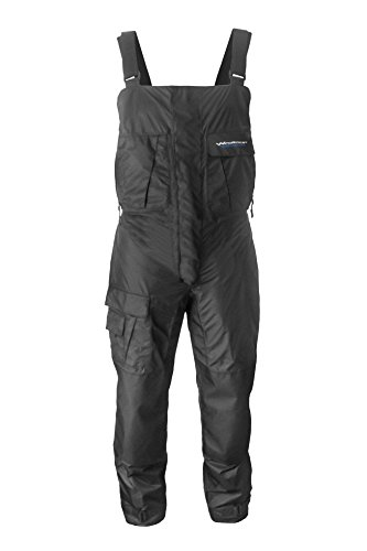 WindRider Pro Foul Weather Rain Bibs | Breathable, Windproof | Double Zipper | 6 Pockets w/Hand Warming Chest Pockets | Cordura Reinforced Seat, Knees, Ankle Hems |Great for Sailing, Fishing, Paddling