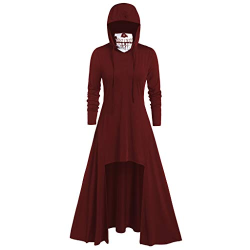 Nicki Minaj Halloween Costumes Ideas (iLOOSKR Fashion Women's Hooded Skirt Pullover Long Sleeve High Bandage Dress Cloak)
