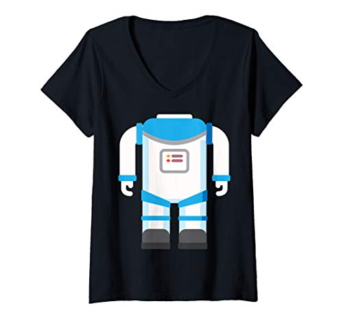 Womens Astronaut Costume Halloween Art Funny Space Explorer Gift V-Neck T-Shirt]()