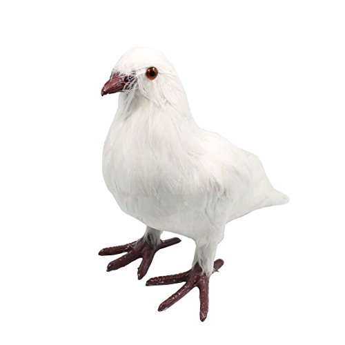 "Tplay Pigeon Bird Figurine Collectible Animal Statue Decoration Gifts Figure Toy 10"", White"
