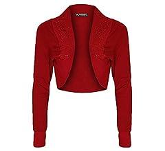 Womens Short Sleeve Open Front Ribbed Bolero Shrug Crop Cardigan Tops Q