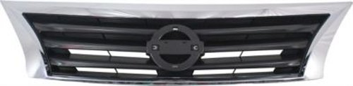 CPP Chrome Shell w/Gray Insert Grille Assembly for 2013-2015 Nissan Altima ()