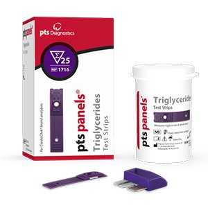 PTS Panels #1716 Triglyceride Test Strips (25/box) for CardioChek ST or PA Meter by CardioChek