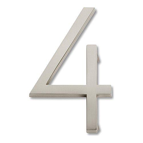 brushed nickel numbers - 3