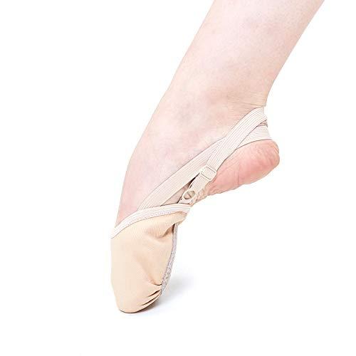kangOnline Calcetines Suaves de Punto Medio Zapatos de Puntera de Gimnasia r/ítmica Zapatos de protecci/ón para pies de Baile el/ásticos Accesorios de sal/ón de Baile para ni/ñas