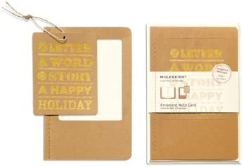 Moleskine Pack 10ex tarjetas adorno GD formato Happy Holiday ...