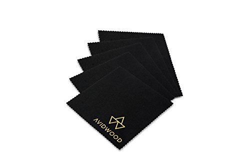 "Microfiber Cleaning Cloth 5 Pack – Keep your premium watch collection in pristine condition - Large size 6"" x 6"" inch safe non abrasive for iPhone Tablets Camera Lenses TV optics CD DVD keyboard vinyl"