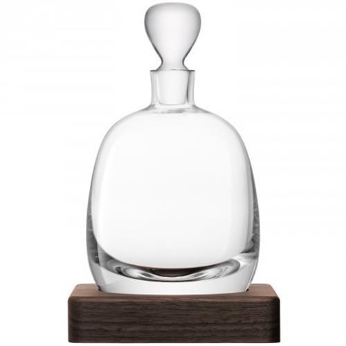 LSA International Whisky Islay Decanter, 33.8 fl. oz., Clear/Walnut