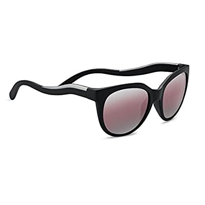 Image of Serengeti Lia Sunglasses Satin Black/Satin Silver, Lens