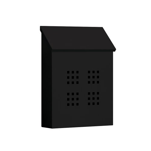 Salsbury Industries 4625BLK Traditional Mailbox, Decorative, Vertical Style, Black (Mailbox Wall Black)