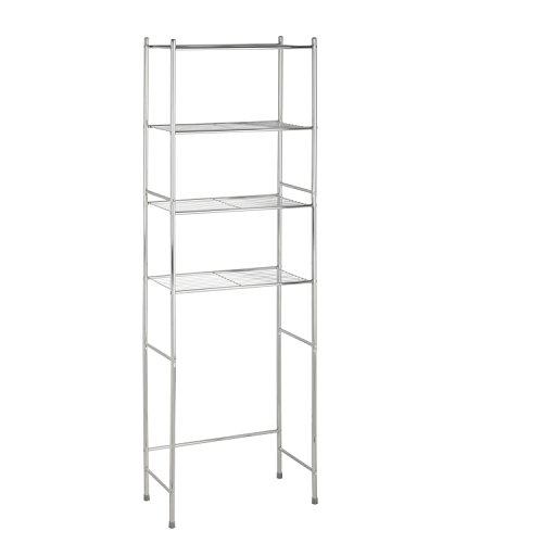 Honey-Can-Do 4-Tier Space Saver Shelf, Chrome, 24.02″ L x 11.02″ W x 67.72″ H