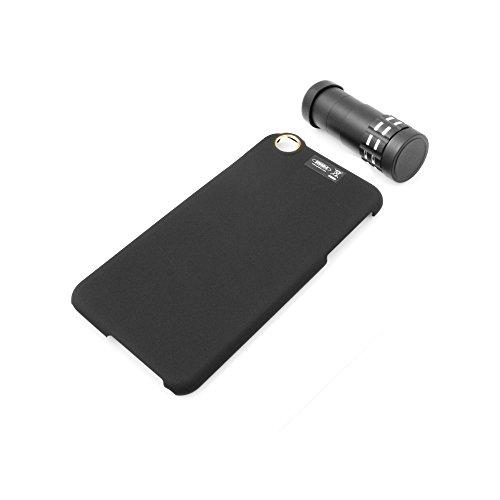 System-S Tele Objektiv Linse 9X Zoom Teleobjektiv mit Hartschale Protector Case Cover Schutzhülle für iPhone 6 Plus