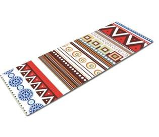 Yoga Mat with Integrated Towel by Abundant Life Yoga - Premium Eco Friendly Non Slip Mats - Improve Your Bikram, Ashtanga, and Hot Yoga - Bonus Carrying Strap Included - 6 Unique Designs - Order Today!
