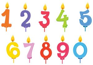 Cake Number Candles 20 Birthday Multi Coloured Numbers On Sticks Stems Decorations For 18th