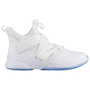 Nike Soldier XII SFG – Men's Lebron James Nylon Basketball Shoes 11.5 D(M) US White