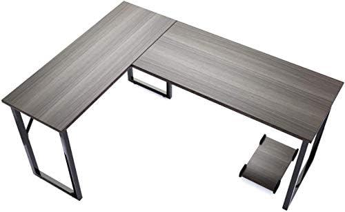 Modern L-Shaped Corner Desk Computer Desk Gaming Office PC Table