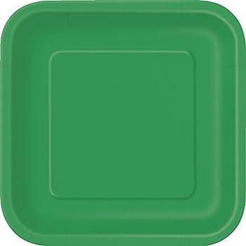 Square Green Paper Plates 14ct & Amazon.com: Square Green Paper Plates 14ct: Kitchen u0026 Dining