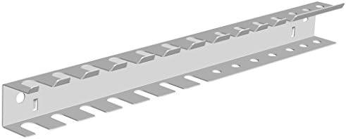 Element System Werkzeughalter-Leiste einfach oder doppelt für Werkzeuglochwand, Lochplattenwand, weiß.