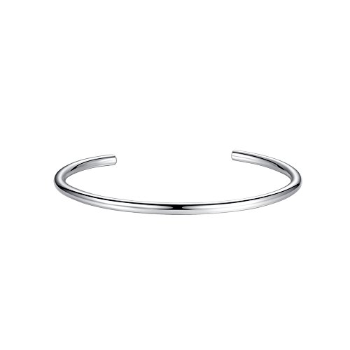 Glamulet Sports - Silver C Bangle Bracelet 6.4 cm -- 925 Sterling (Sterling Silver Bowling Ball)