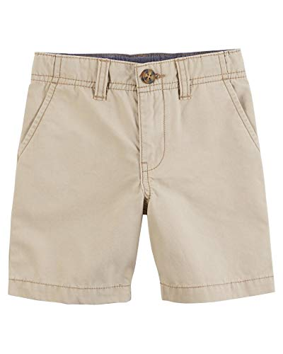 (Carter's Boys' Chino Shorts, Khaki (18 Months) )