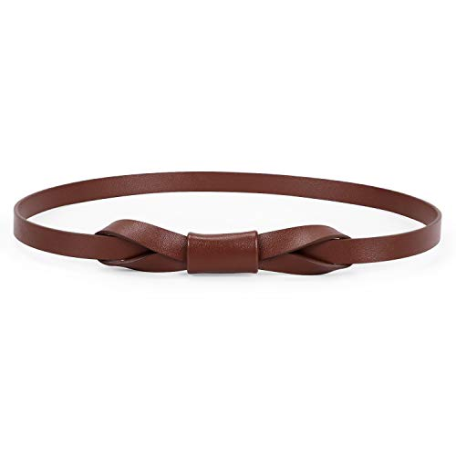 Simple Style Women's Waist belt, Adjustable Skinny Belt for Girls Jeans Belt Brown - Narrow Waist Womens Dresses
