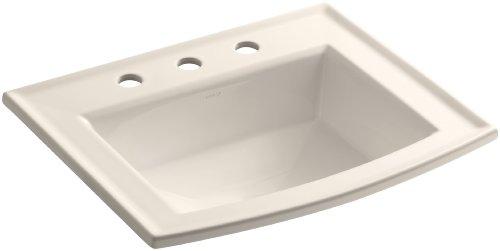 KOHLER K-2356-8-55 Archer Self-Rimming Bathroom Sink with 8