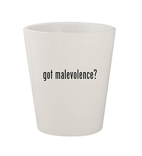 got malevolence? - Ceramic White 1.5oz Shot Glass -