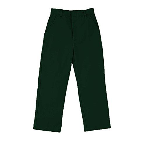 - Universal School Uniforms Boys Flat Front Pant Hunter Green Size 12 Husky