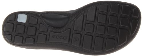 Ecco Jab Sandal Black/Black Feather/Tex/Sole Jab Toggle Sandal - Mocasines de cuero para mujer, color negro, talla 36 Negro (Schwarz (BLACK/BLACK 51707))