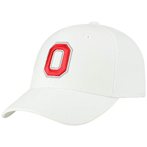 Top of the World NCAA-Premium Collection-One-Fit-Memory Fit-Hat Cap (Ohio State Buckeyes-White, One Size Fits ()