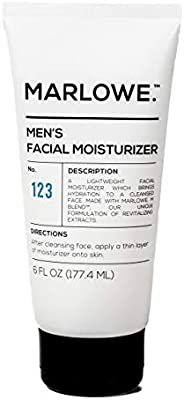 MARLOWE. No. 123 Men's Facial Moisturizer 6 oz | Lightweight Daily Face Lotion for Men | Best for Dry or Oily Skin | Made wi