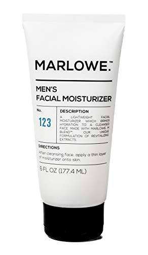 31B0BvrjuOL - MARLOWE. No. 123 Men's Facial Moisturizer 6 oz | Lightweight Daily Face Lotion for Men | Best for Dry or Oily Skin | Made with Natural Ingredients & Anti-Aging Extracts