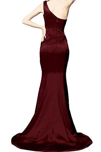 Ballkleider Damen Promkleid Abendkleider Schulter Dunkelgruen Schleppe Ivydressing Lang Ein zpwn7CqqxS