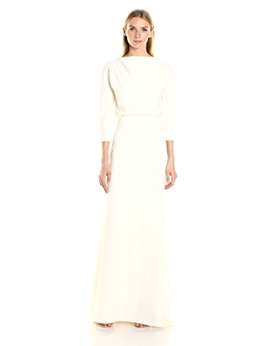 Gown Blouson Badgley Ivory Women's Crepe Stretch Mischka It Dress ZCfwZ