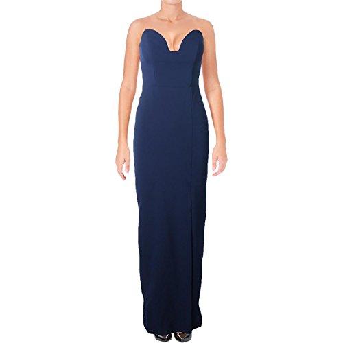 Nicole Miller Women's Casey Bustier Gown Navy Dress