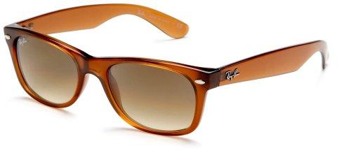 Ray-Ban RB2132 New Wayfarer Mirrored Sunglasses, LIGHT BROWN, 52 mm (Mirrored Prescription Ray Sunglasses Ban)
