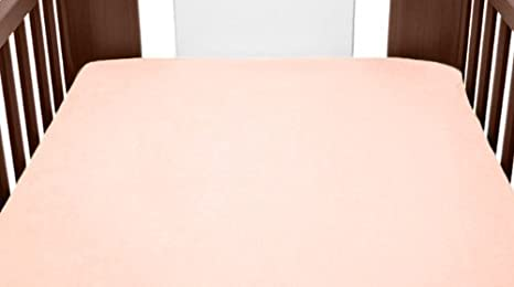 Terry Towelling Fitted Sheet 70x50cm To Fit Changing Mat Cover Nursery Baby (Light Pink) TheLittles24