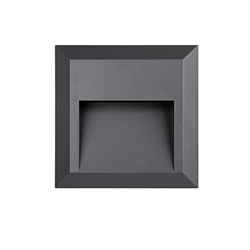 LightStan LED Outdoor Indoor Step Stair Light - Wall Mount Decoration, Waterproof IP65, Down Light, Black, ()