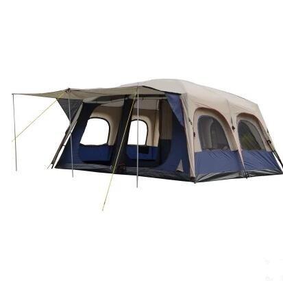 Rainstorms 6–12 Personen Camping Zwei Schlafzimmern und Einem Wohnzimmer Mehrpersonen Doppel-Zelte Outdoor Camping