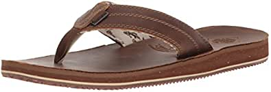 Freewaters Men's Open Country Flip-Flop, Brown, 7 Medium US