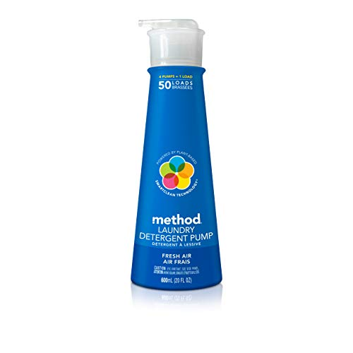Method Concentrated Laundry Detergent with Pump, Fresh Air, 20 Ounce, 50 Loads