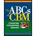 Abcs of Cbm - A Practical Guide to Curriculum-based Measurement (06) by PhD, Michelle K Hosp - PhD, John L Hosp - PhD, Kenneth W Ho [Paperback (2006)]
