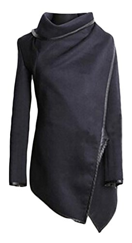 Trench blue Solid Wool Outwear Women's Jacket Blend Navy Parka Long Coats Irregular today UK OR0wxqn6