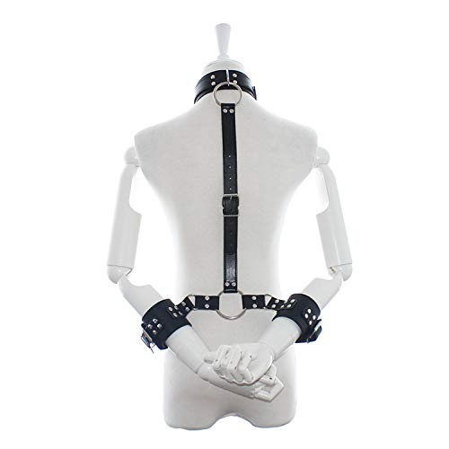 AUEXY Pu Leather Harness Sex Slave Bdsm Bondage Collar leash Handcuffs Neck Dog Collar Sex Adult Games Toys For Couples Woman